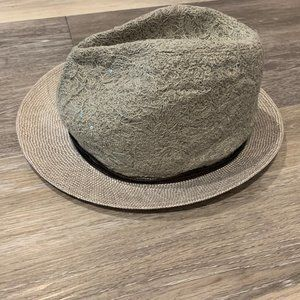 BRUNELLO CUCINELLI LACE NATURAL STRAW HAT SZ M